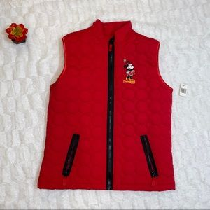 NWT DisneyParks Red Quilted Vest Size M